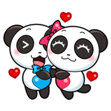Cute Valentine Panda Couple sticker #3237159
