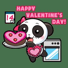 Cute Valentine Panda Couple sticker #3237162
