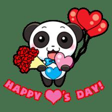 Cute Valentine Panda Couple sticker #3237163