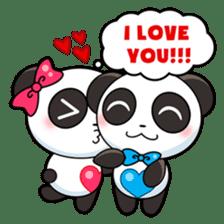 Cute Valentine Panda Couple sticker #3237164
