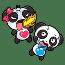 Cute Valentine Panda Couple sticker #3237166