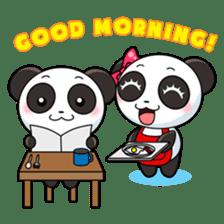 Cute Valentine Panda Couple sticker #3237168