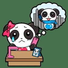 Cute Valentine Panda Couple sticker #3237169