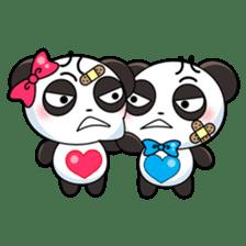 Cute Valentine Panda Couple sticker #3237172