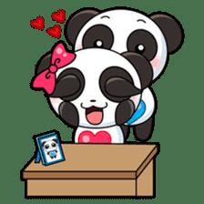 Cute Valentine Panda Couple sticker #3237175