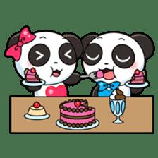 Cute Valentine Panda Couple sticker #3237176