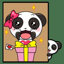 Cute Valentine Panda Couple sticker #3237177