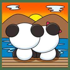 Cute Valentine Panda Couple sticker #3237178