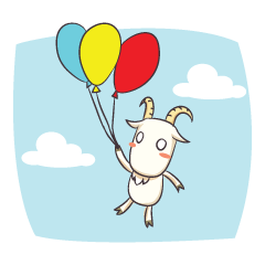 Crazy Goaty - Lucky and Happy Goat