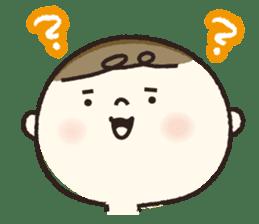 A boy wearing a diaper sticker #3254611