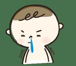 A boy wearing a diaper sticker #3254622