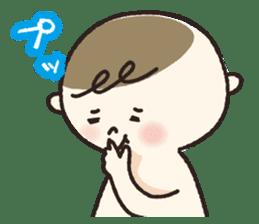 A boy wearing a diaper sticker #3254626