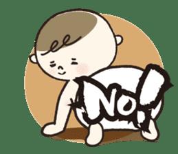A boy wearing a diaper sticker #3254628