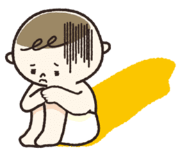 A boy wearing a diaper sticker #3254642