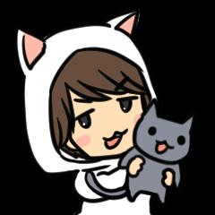 Hiroshi Kamiya's cat, and me
