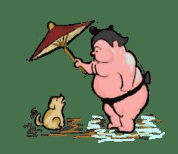 Sumo wrestler Koshimazu sticker #3271259