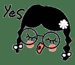 expressionless girls sticker #3271967