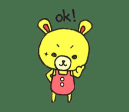 JAMIE THE HAPPY BEAR sticker #3273467