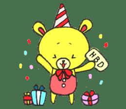JAMIE THE HAPPY BEAR sticker #3273475