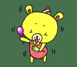 JAMIE THE HAPPY BEAR sticker #3273481