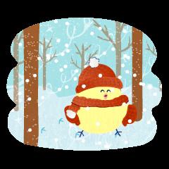 Greetings Piyoshi of winter