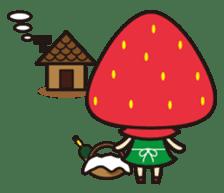 Strawberry hood sticker #3320782