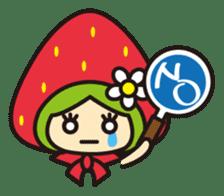 Strawberry hood sticker #3320797