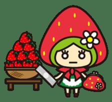 Strawberry hood sticker #3320805
