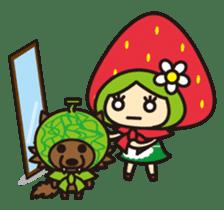 Strawberry hood sticker #3320810
