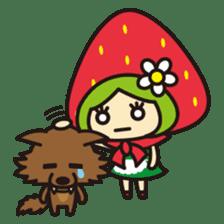 Strawberry hood sticker #3320811