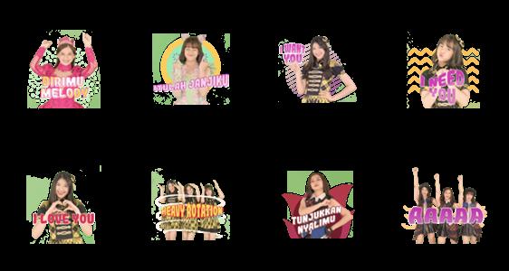 สติ๊กเกอร์ไลน์ JKT48 - Our Story