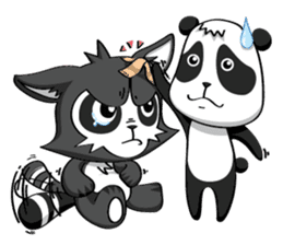 Daccoon Panda & Raccoon sticker #3331302