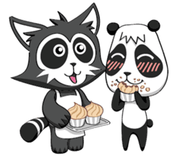 Daccoon Panda & Raccoon sticker #3331333