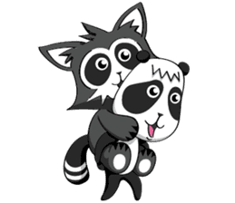 Daccoon Panda & Raccoon sticker #3331334