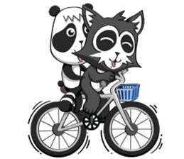 Daccoon Panda & Raccoon sticker #3331335