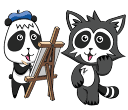 Daccoon Panda & Raccoon sticker #3331337