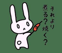 a Pink Lazy Rabbit sticker #3333298