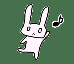 a Pink Lazy Rabbit sticker #3333319