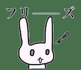 a Pink Lazy Rabbit sticker #3333330