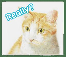 Colored pencil Cat sticker sticker #3343442