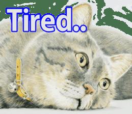 Colored pencil Cat sticker sticker #3343446