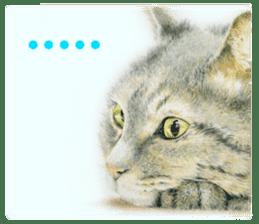 Colored pencil Cat sticker sticker #3343452