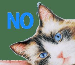Colored pencil Cat sticker sticker #3343455