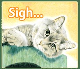 Colored pencil Cat sticker sticker #3343460