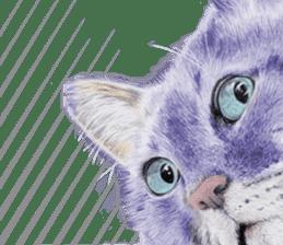 Colored pencil Cat sticker sticker #3343463