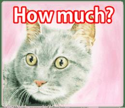 Colored pencil Cat sticker sticker #3343464