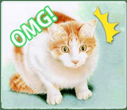 Colored pencil Cat sticker sticker #3343465