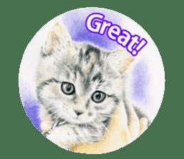 Colored pencil Cat sticker sticker #3343466