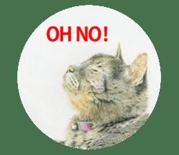 Colored pencil Cat sticker sticker #3343467