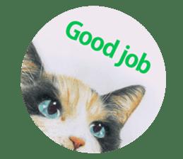 Colored pencil Cat sticker sticker #3343468